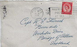 GB 1956 QE.II  2.1/2d (o) PAQUEBOT (Quebec) 5.XI.56 - Briefe U. Dokumente