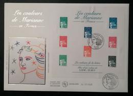 Enveloppe FDC Grand Format - BLOC 2001 - LES COULEURS DE MARIANNE - 2000-2009