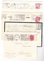 7 SOBRES CON MATASELLO RODILLO DIFERENTES AÑOS 1925/34/35 ETC (MADRID, ALBACETE,CASTELLON). - VER DESCRIPCION - FDC