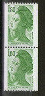 Paire N° 2378** Et 2378a**_ N° Rouge Verso_ - Coil Stamps
