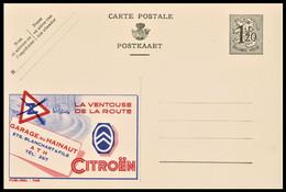 Entier CP Publibel 1145 . 1,20 Fr . Garage Du Hainaut CITROEN - Publibels