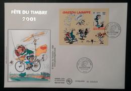 Enveloppe FDC Grand Format - BLOC 2001 - GASTON LAGAFFE - 2000-2009