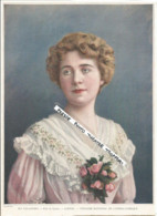 1904 Page De Presse Photo Actress Actor Theater  Attrice Teatro Théâtre /  Mlle VALLANDRI Louise Opéra - Persons