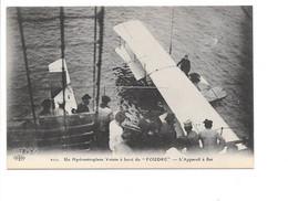 """AVIATION Militaire - Un Hydroaéroplane Voisin à Bord Du """"Foudre"""" - L'Appareil à Flot. (Hydravion, Bateau Militaire) - 1914-1918: 1. Weltkrieg"""