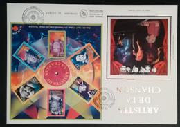Enveloppe FDC Grand Format - BLOC 2001 - ARTISTES DE LA CHANSON - 2000-2009