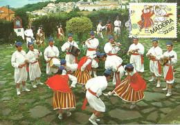 Carte Maximum - Portugal - Europa 81 Madeira - Folclore Dança Tipica - Folk Dance Danse Folklorique - Cartoline Maximum