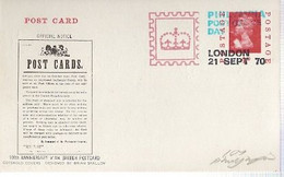 England &  Marcofilia, 100th Anniversary British Postcard, London 1970 (76868) - Unclassified