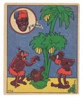 Chromo Banania Signé Vica (n° 11 ) - Chou Palmiste, Nègre, Banane, Y'a Bon - Banania