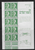 Marianne De Muller - Feuillet N° 1010a  ** - Cote 55 € - 1955- Marianne Of Muller