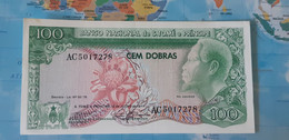 SAO TOME 100 DOBRAS 1977 P 53 AUNC - Sao Tome And Principe