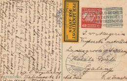ENTIER PAR AVION PER LUCHTPOST 5C +40C GRAVENHAGE 25/9/1928 POUR GALANG SUMATRA INDONESIE - Postwaardestukken