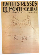 CPM - Repro Affiche - BALLETS RUSSES DE MONTE CARLO - (rif. C00) - Advertising