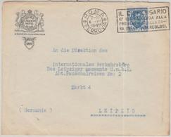 Italien - Rom 1928 Regina Carlton Hotel Vordruckkuvert N. Leipzig - Unclassified