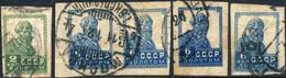 URSS / USSR - Soviet Union - 1923/4 - Mi.229.1 & 4xMi.233.I Imperf / No Wmk - VFU - Gebruikt