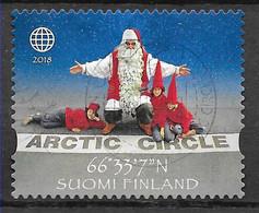 Finlande FINLAND Vignette 2018 Cercle Arctique Père Noël Lutins Arctic Circle Christmas Father Christmas Elf .  . - Zonder Classificatie