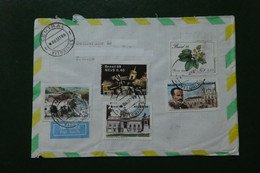 A 6 / LETTRE BRASIL BRESIL TIMBREE OBLITEREE 1989 5 TMBRES DIFFERENTS - Luchtpost