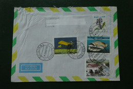 A 6 / LETTRE BRASIL BRESIL TIMBREE OBLITEREE 1989 3 TMBRES DIFFERENTS - Luchtpost