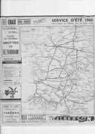 INDICATEUR SNCF CHAIX SUD OUEST SERVICE ETE 1960 - Europe