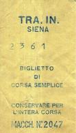 B 3806 -  Biglietto Di Viaggio, Siena - Europe
