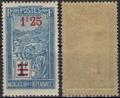MADAGASCAR 151 ** MNH Transport En Filanzane Surchargé 1922 - 1927 - Nuovi