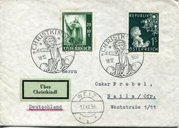 61512 Austria,cover Circuled Uber Christkindl 18.12.1953 To Germany - 1945-60 Cartas