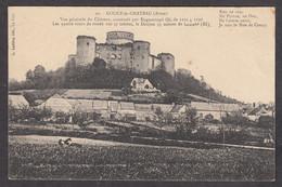 098943/ COUCY-LE-CHATEAU, Vue Générale Du Château, Voir Pub Hôtel Des Ruines Au Verso - Andere Gemeenten