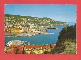"""C.P.S.M. ( 06 ) """" NICE """" Le Port ,vue Sur Le Mont Boron ( Jolie Vue Générale Animée )  X 2pht. - Multi-vues, Vues Panoramiques"""