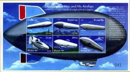 Bhoutan Bhutan 2000 Sheet Zeppelin 100 Years  6 Stamps - Zeppelines