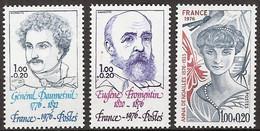 France - YT 1896 à 1898 (1976) Personnages Célèbres. Au Profit De La Croix-Rouge. Neuf ** - Nuevos