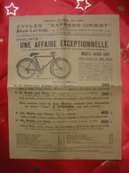 1937 Lot Cycles Brun-Latrige St Etienne Bicyclettes Publicité Très Illustrée-Concours-Tarifs-Facture-Lettres à En-tête - Transport