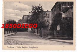 CROTONE - VIALE REGINA MARGHERITA F/GRANDE  VIAGGIATA 1942 ANIMATA - Crotone