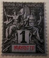Mayotte - Archipel Des Comores - 1892-99 -  Y&T N°1 /0/ - Neufs