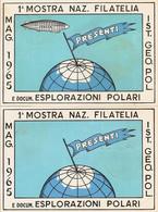 """(St.Post.).Repubblica.1965.-2 Cartoline Commemorative.Una Con Varietà """"Dirigibile Mancante"""" (59-20) - Eventos Y Conmemoraciones"""