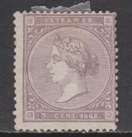 1868 ANTILLAS ISABEL 5 Cts NUEVO. 40 €. VER - Cuba (1874-1898)