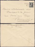 Belgique  - Lettre  A/timbre Nr.: 480 Oblitéré Griffe LASNE CHAPELLE ST. LAMBERT Vers Bruxelles ....  (DD) DC-9823 - Lettere