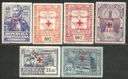 742 Portugal 1930 Camoens Red Cross Overprint Croix Rouge MNH ** Neuf SC (POR-138) - Croce Rossa