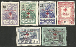 742 Portugal 1931 Camoens Red Cross Overprint Croix Rouge MNH ** Neuf SC (POR-139) - Croce Rossa