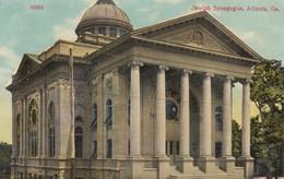 Jewish Synagogue Atlanta Georgia, Religion Architecture C1910s Vintage Postcard - Jodendom