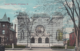 Jewish Temple Olumbus Ohio, Religion Architecture C1910s Vintage Postcard - Jodendom