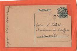Cachet Occupation Allemande  1916 ? , Cachet  Beauraing ( Belgique ) Cachet Censure Givet ,( France ) TRES RARE - Altri