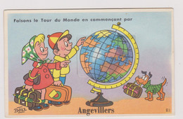 CP Dept 57 Rare Carte à Système D'Angevillers Complete De Ses 10 Vues - Other Municipalities