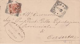 A46. Formicola 1906. Annullo Tondo Riquadrato FORMICOLA (CASERTA), Su Lettera Affrancata Senza Testo - Marcophilia
