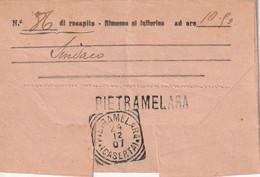 A46. Pietramelara. 1907. Annullo Tondo Riquadrato PIETRAMELARA (CASERTA), Su Telegramma - Marcophilia