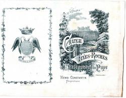 1 Carte Château Fines -Roches  à Châteauneuf - Du Pape Vaucluse Propriétaire Henri Constantin - Wine