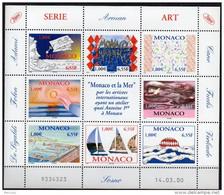 Année 2000 - N° 2240 à 2247 - Série Art : Monaco Et La Mer - Feuillet 8 Valeurs Neuf Cote 25,10 € - Blocks & Kleinbögen
