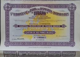 EURADIA  Luxemburgse Holding 1936 Deco - Elektrizität & Gas