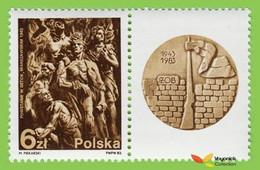 Voyo POLAND Getto Uprising 1983 Mi#2866 Zf  ** MINT Judaica - Unused Stamps