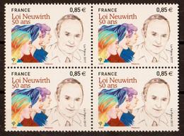 2017  Blocs De 4  N° 5121   Neufs**  (faciale: 3.40€) - Ungebraucht