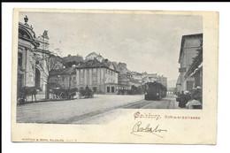 POSTCARD OF SALZBOURG , SCHWARZSTRASSE WITH PRESENCE OF TRAIN , 1902 . - Salzburg Stadt