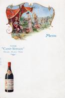 6 Menus Vins De Bourgogne Dijon  Veuve Amiot  Vins Calvet   Gratien & Meyer Saumur Vins Camp - Romain - Wine